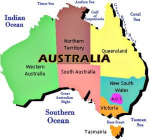 Map Of Australia For Students.Overseas Education Consultants For Australia Study In Australia
